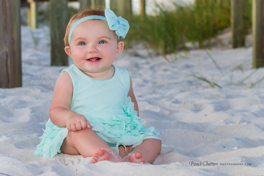 Under the boardwalk, perfect light, perfect baby!