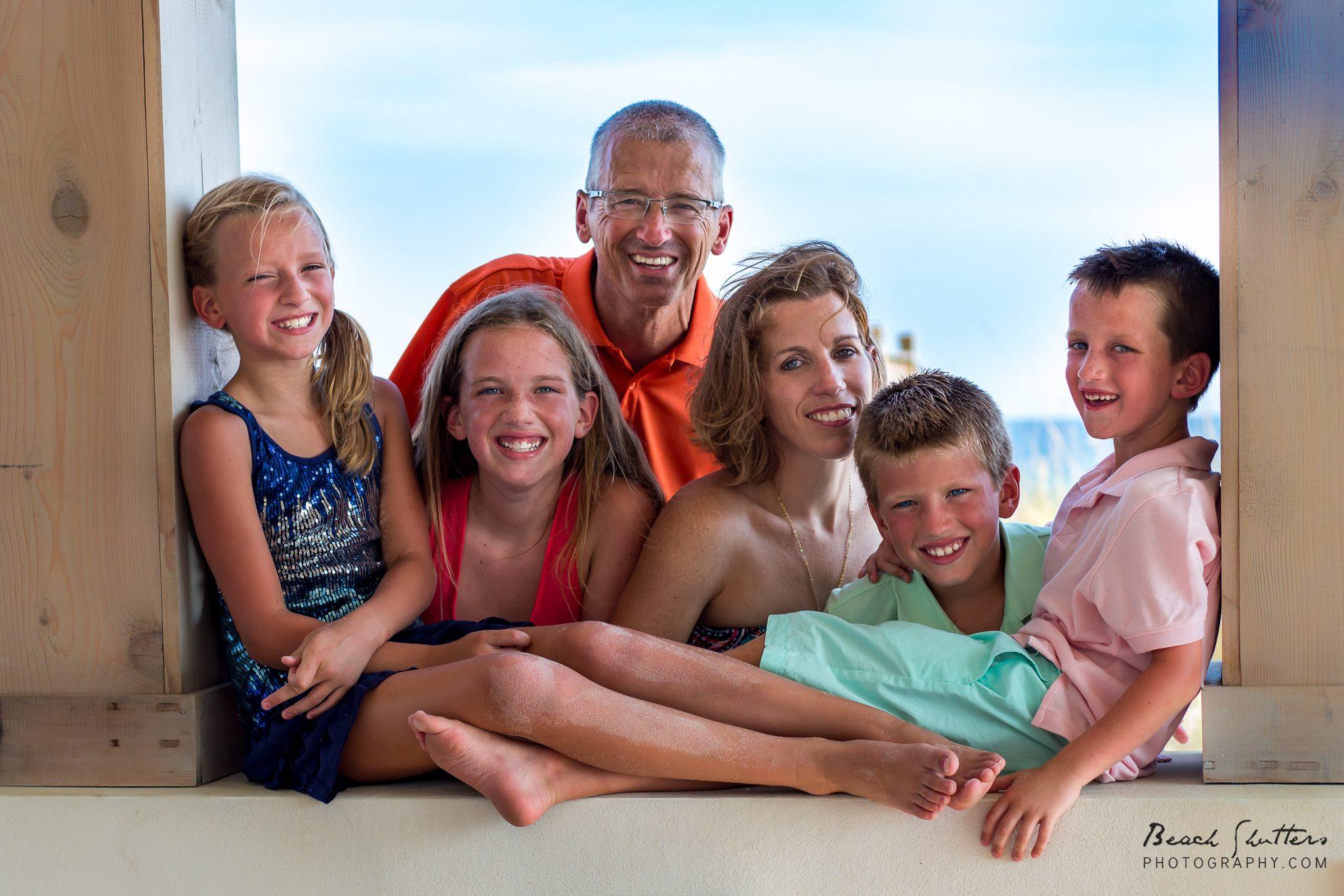 Family Beach Portraits - Beach Shutters Photography