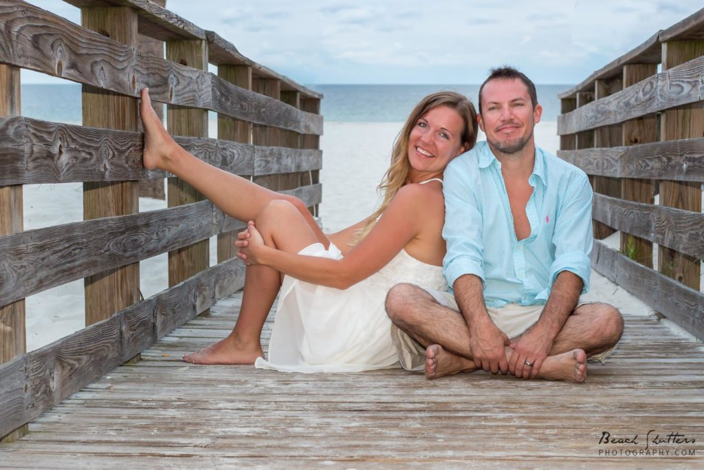 For their anniversary, he gave his wife a photo session from Beach Shutters Photography. Sweet gift