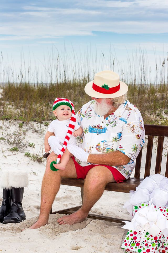 Santa at the beach , a local favorite for Gulf Shores and Orange Beach