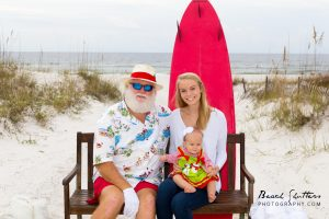 Orange Beach Surfer Santa by Beach Shutters Photography