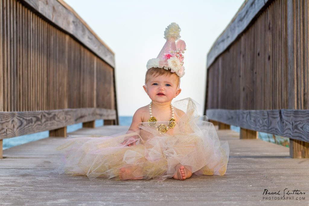 This little darling is celebrating her 1st Birthday at the Beach