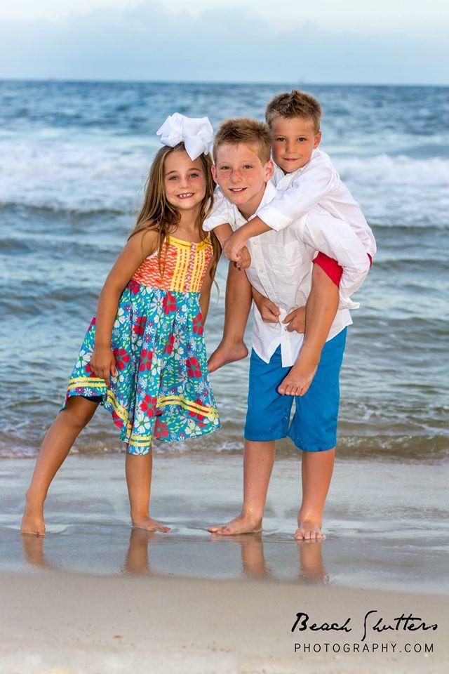 Kids Vacation portrait Fort Morgan Beach Club