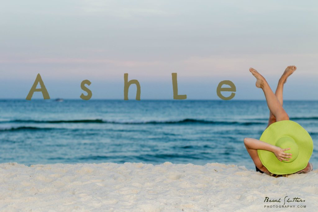 Having fun with photos at the beach with Ashley
