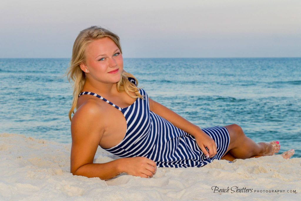 Bring a sundress so you can get her photos on vacation, it makes a great casual senior photo