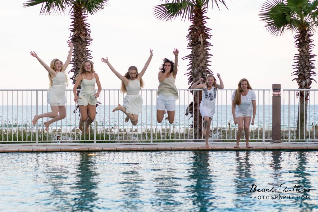 Hotel Pool after the photo shoot at the Turquoise Place in Orange Beach