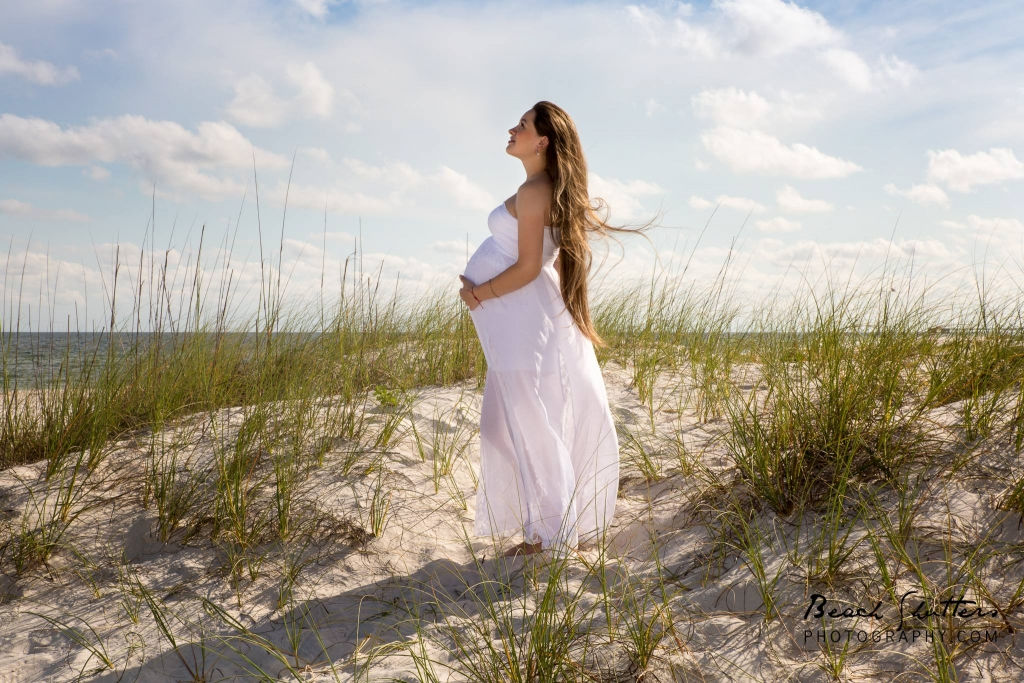 maternity photos at the beach in Orange Beach