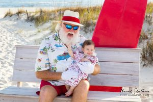 At the Beach with Santa photo