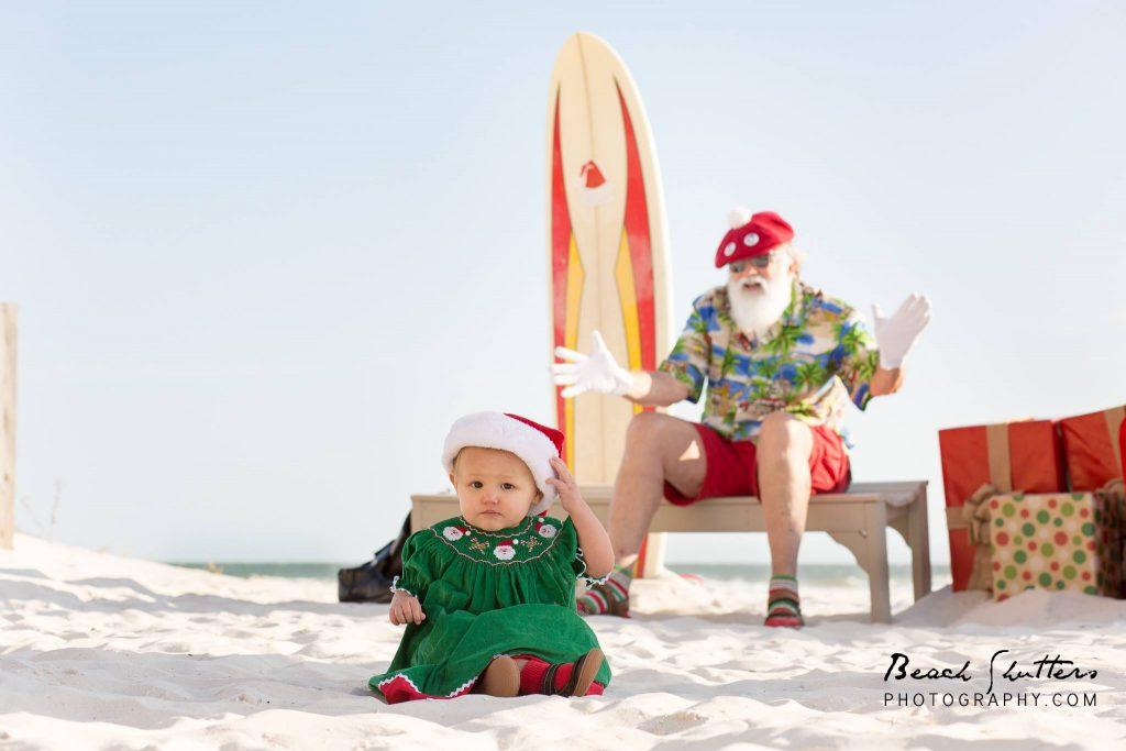 great santa photo ideas at the beach
