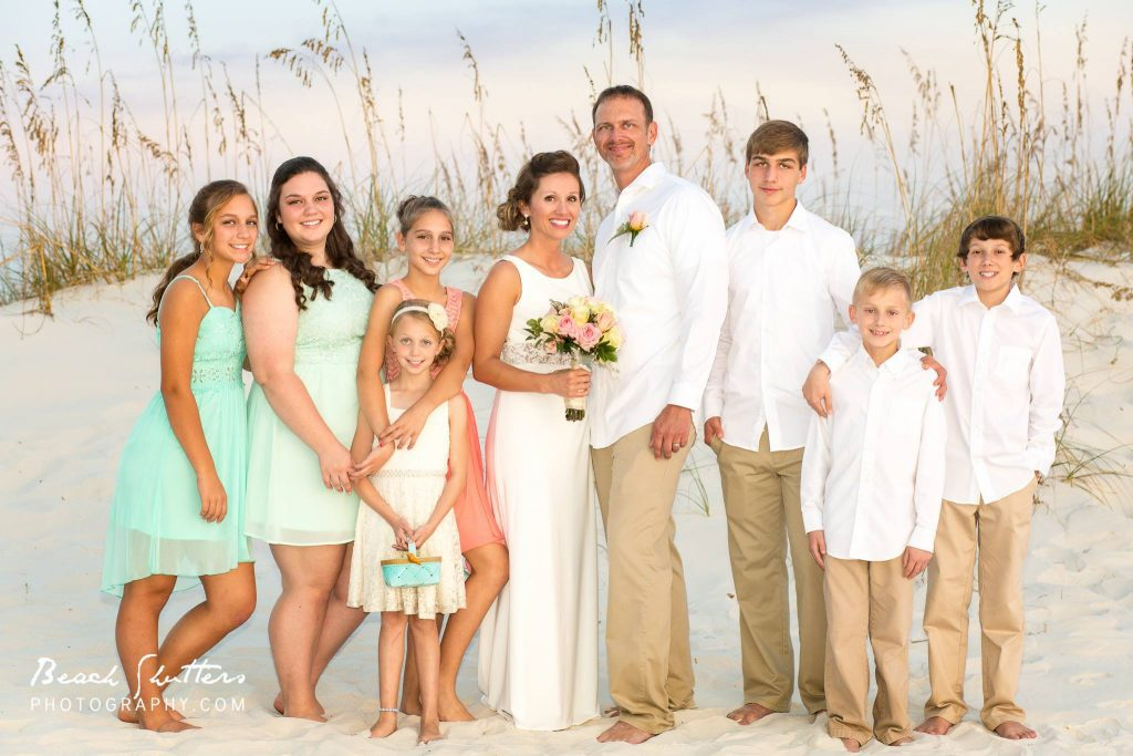 getting married in Orange Beach have bare feet and flowers