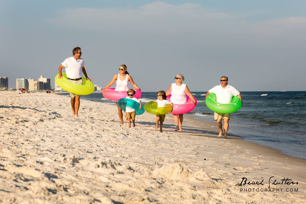 catching the family on the run with Beach Shutters Photography in Orange Beach
