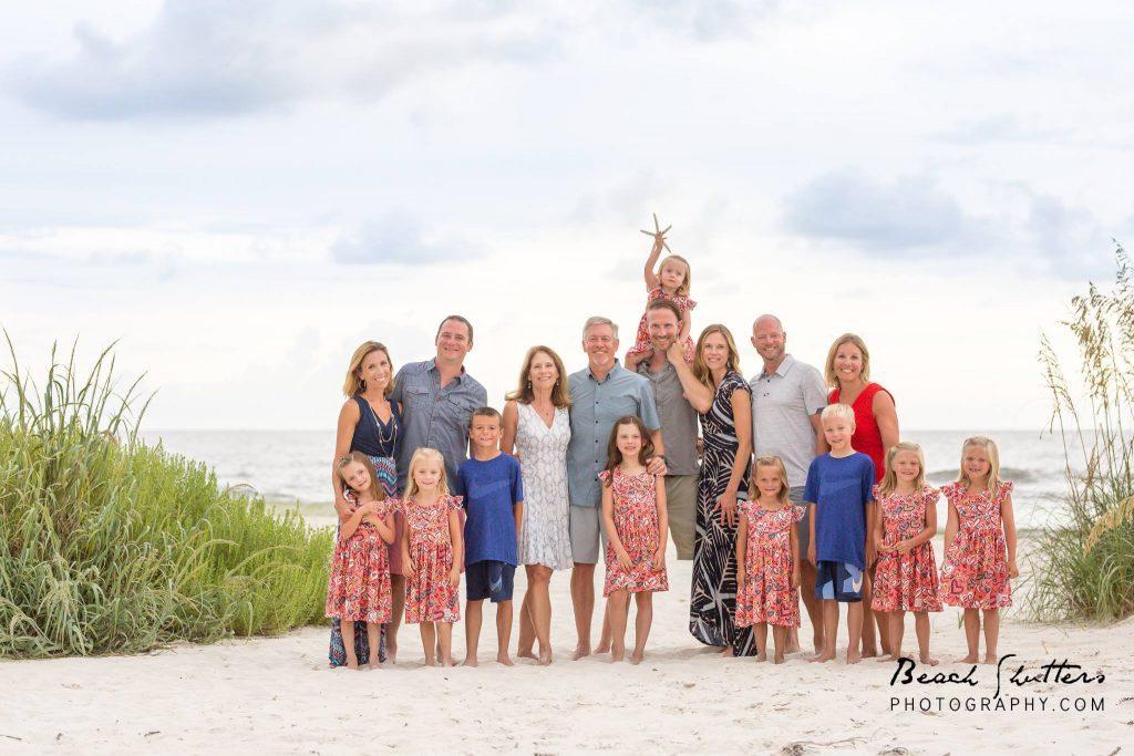 Family Reunion Starfish Beach front Christmas Cards - Beach Shutters ...