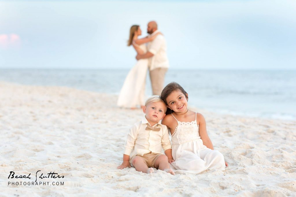 Photography in Orange Beach of a Bride and Groom at the wedding