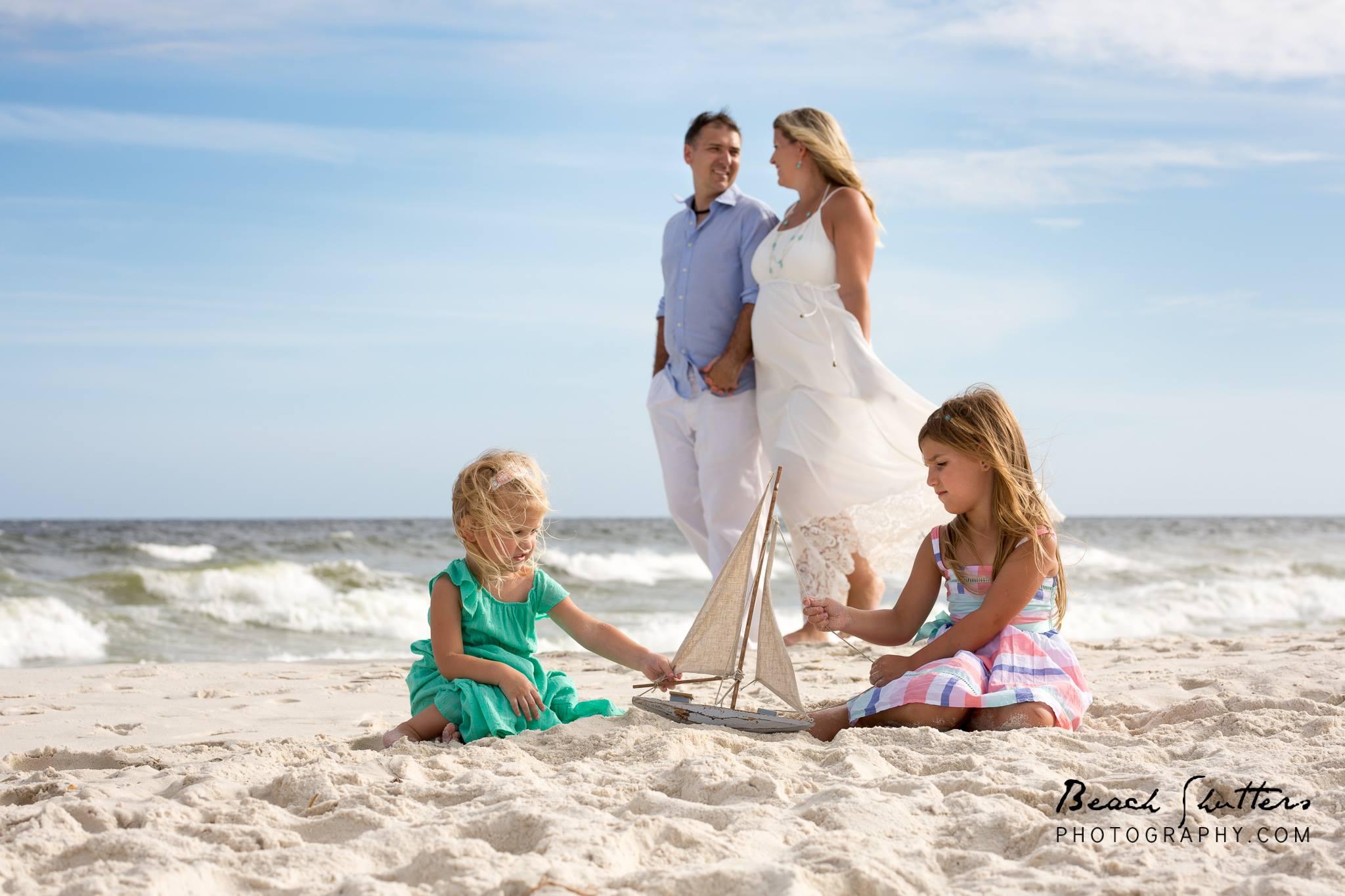 Spring Break Photo Session family beach portrait photographer in Orange Beach Alabama