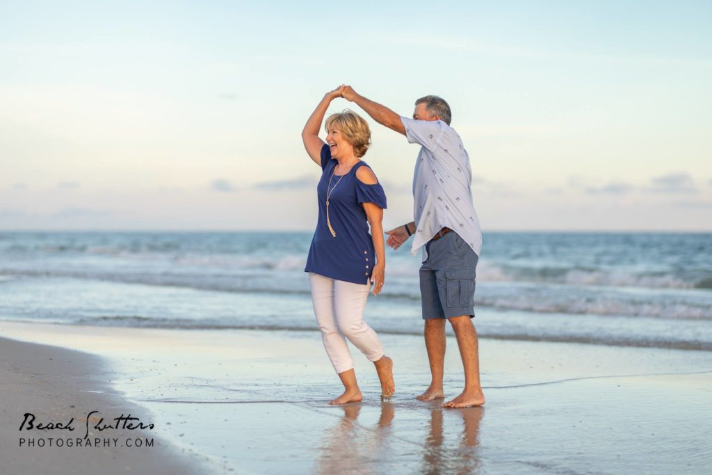 grandparents on the beach in Gulf Shores photos