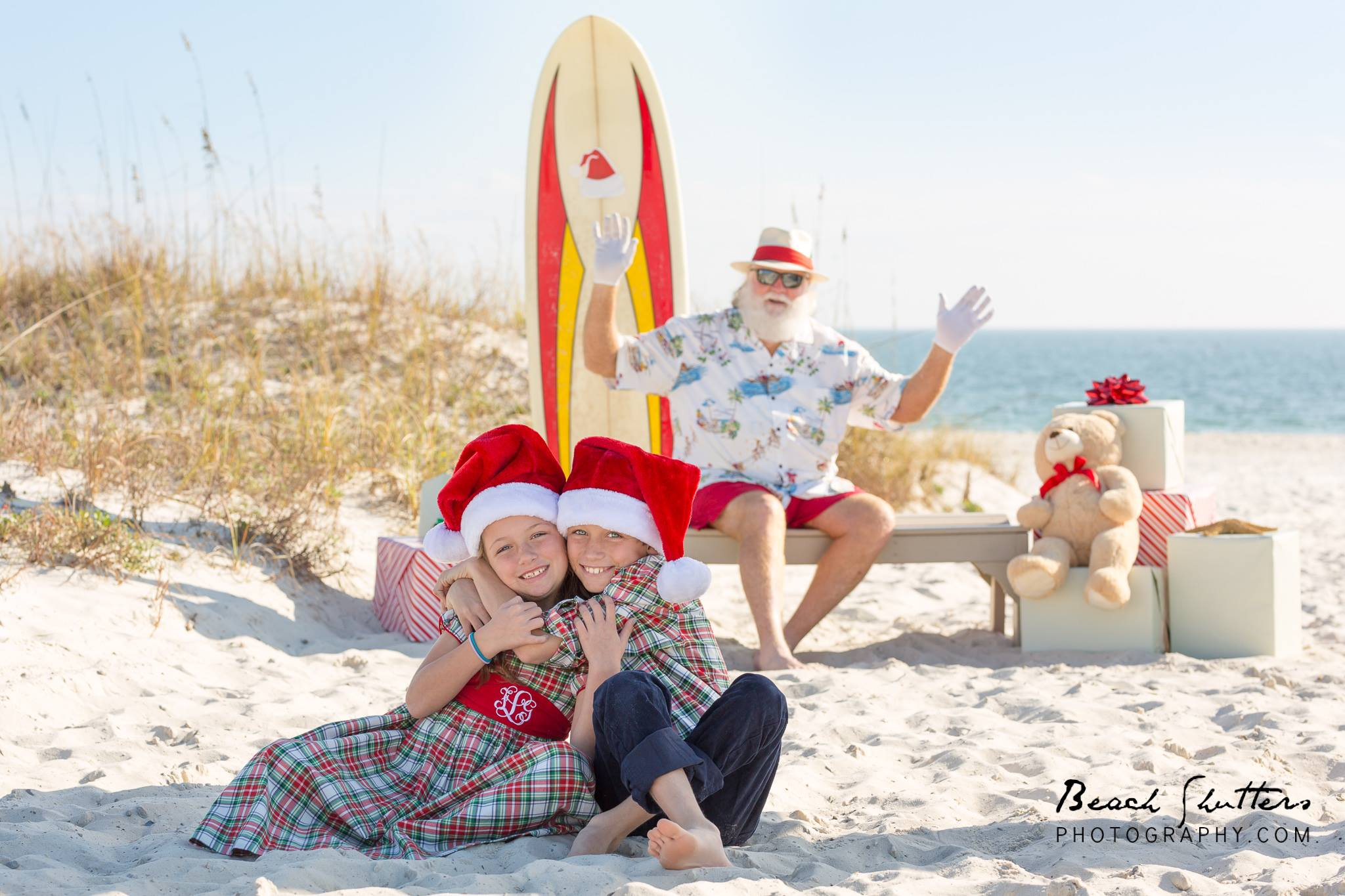 Surfer Santa in Orange Beach