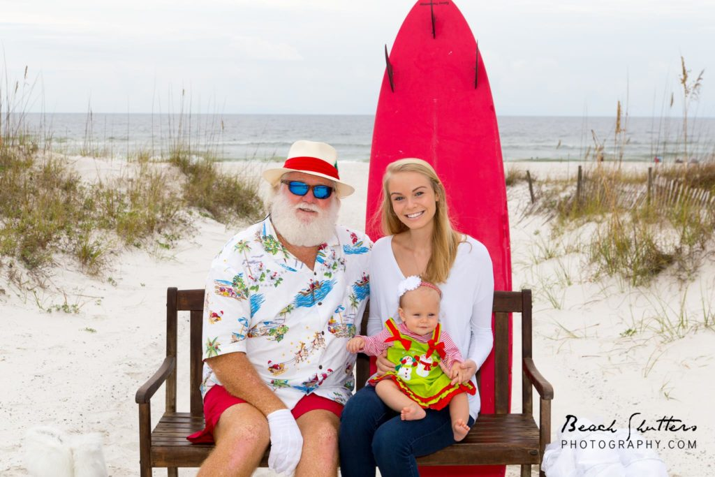 surfer Santa photos in Gulf Shores