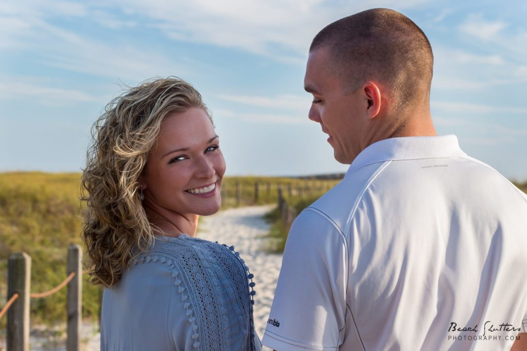 Engagement photos at the beach