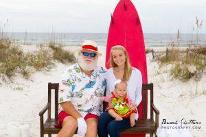 Orange Beach Surfer Santa by Beach Shutters Photography