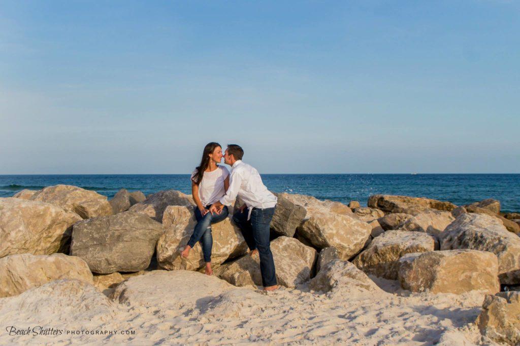 on the rocks in Orange Beach