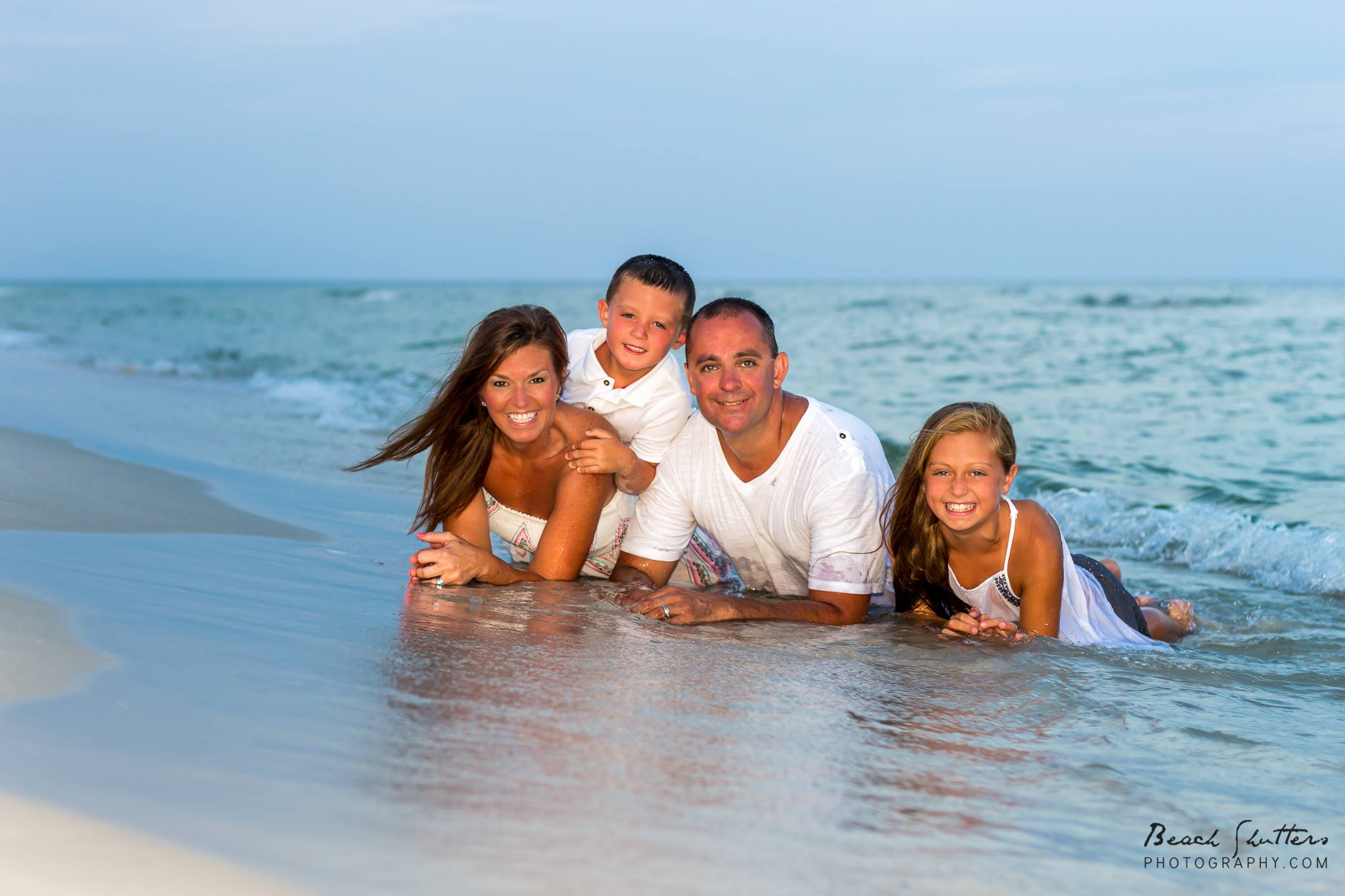 Family Photo In The Water