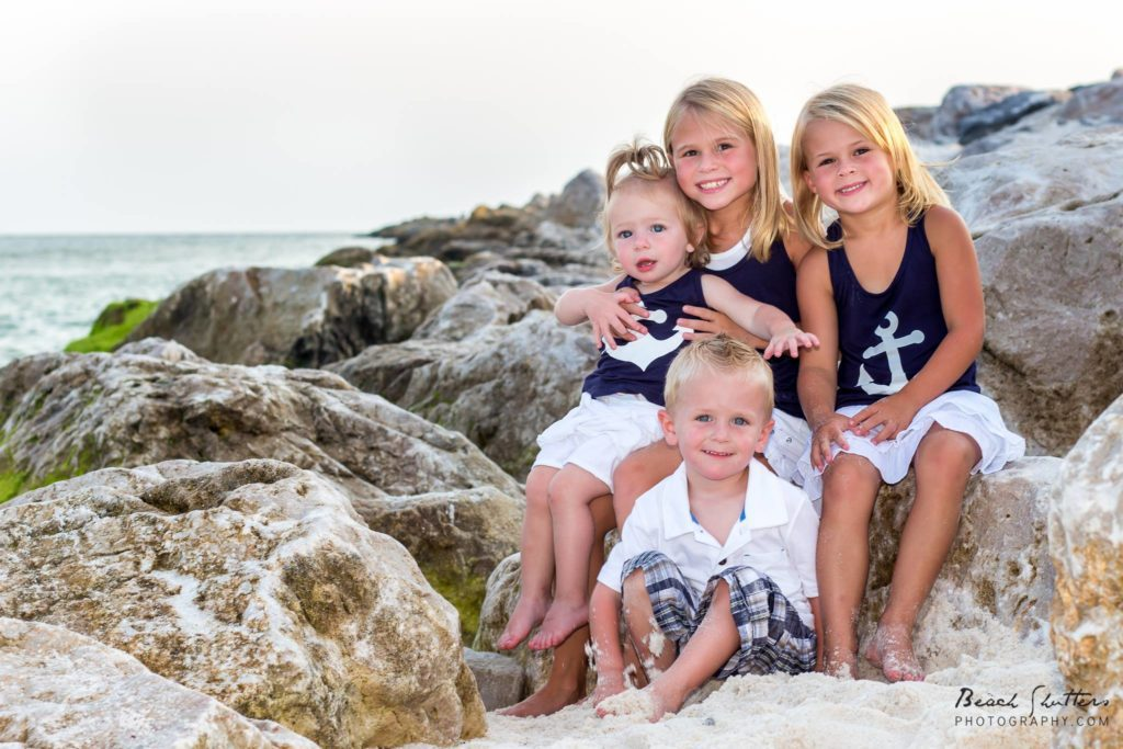 Children on the rocks Perdido Pass