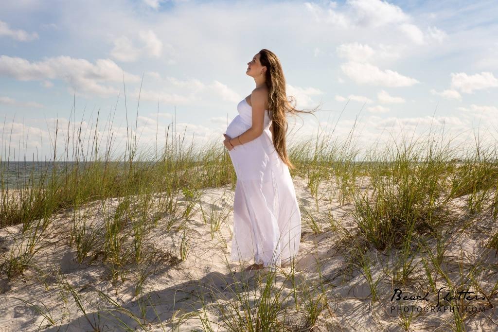 maternity photos at the beach in Orange Beach