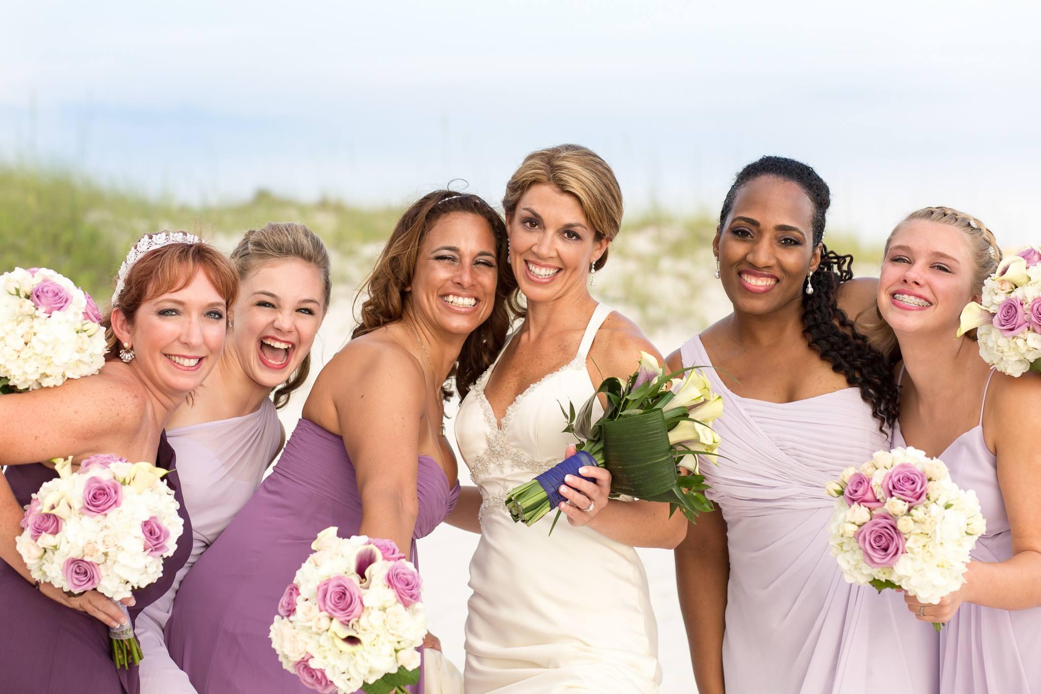 Perdido Beach Resort wedding photo of a bride and her brides maids