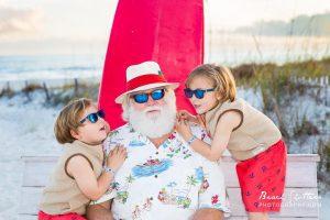 Santa photos at the beach