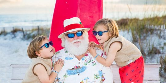 Santa photos at the beach