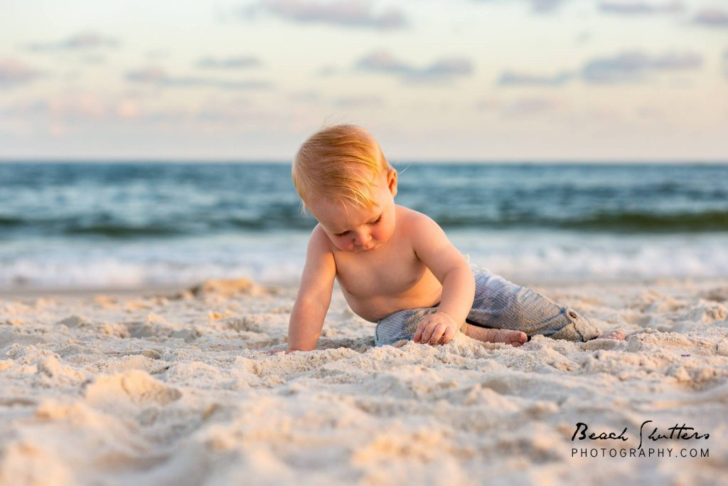 baby photos at the beach in Gulf Shores