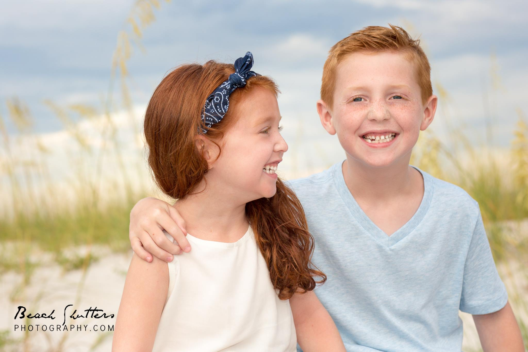 photographing redheads at Orange Beach