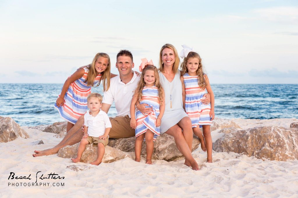 the jetties at Perdido Pass always make a great family photo background