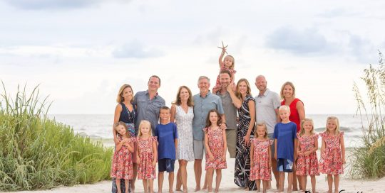 Family Reunion Photos for the Christmas Card this year in Orange Beach Alabama