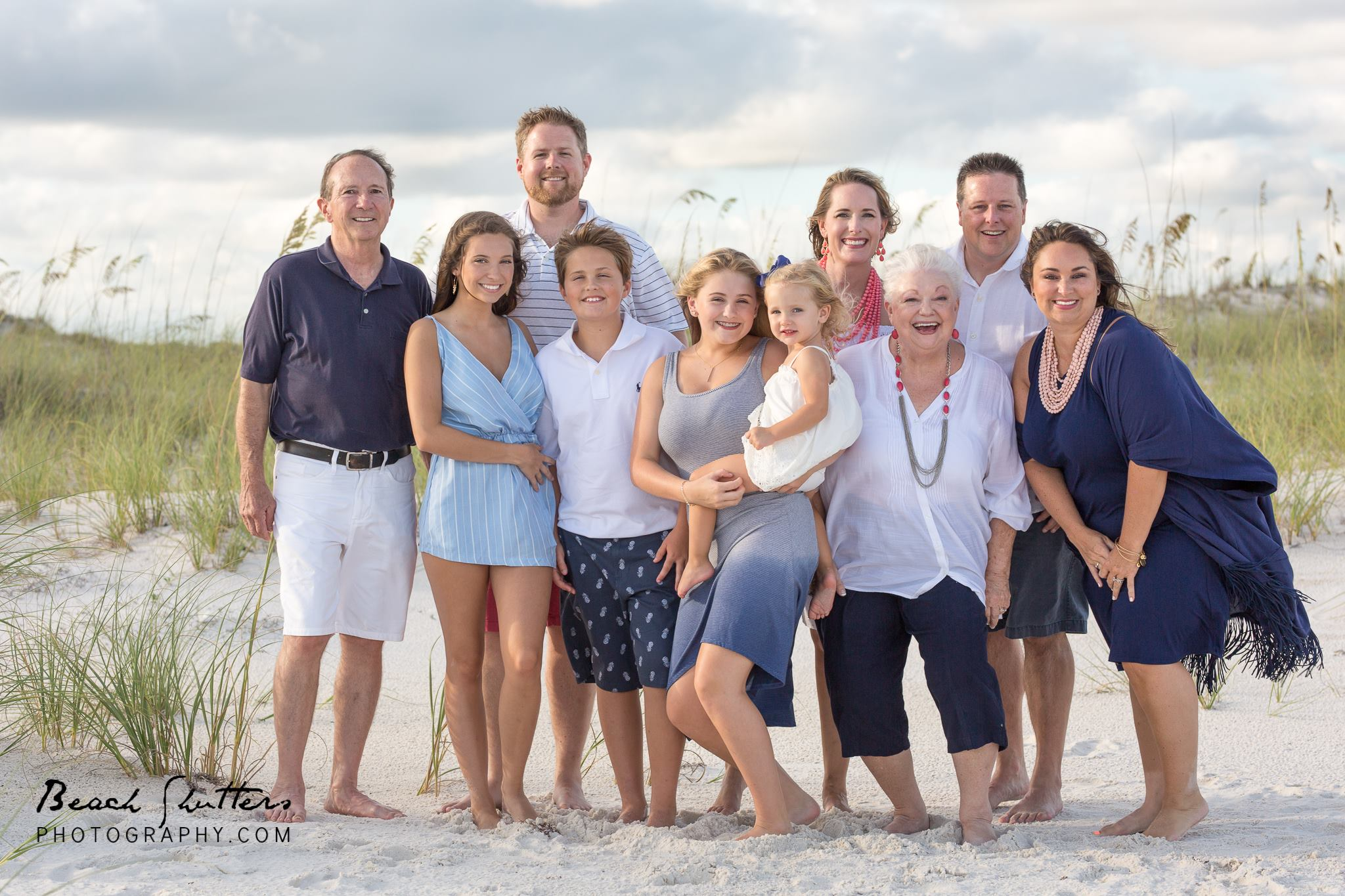 Gulf Shores photographer for family and large reunion photography in Alabama