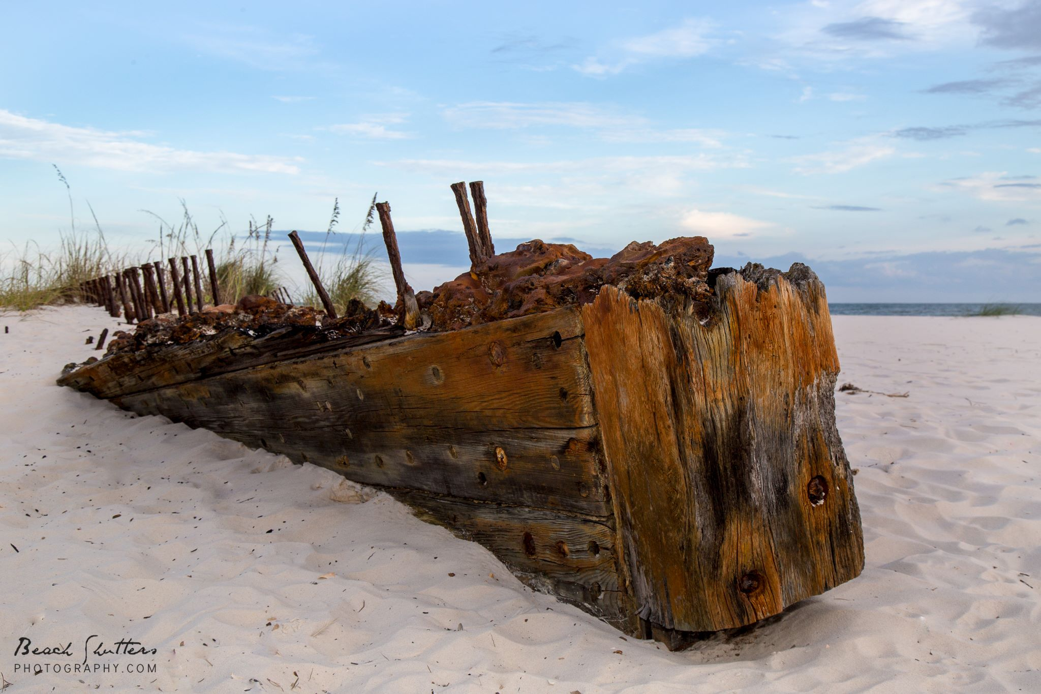 the old ship wreck at Fort Morgan photography