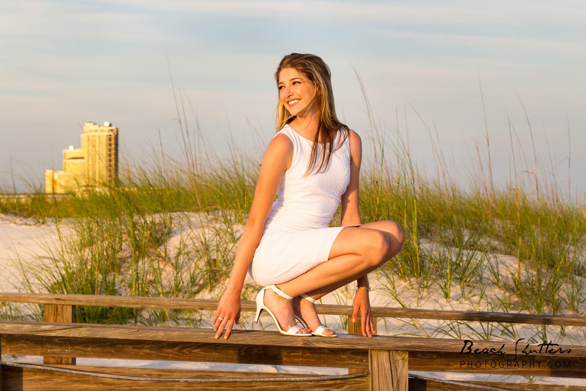 Senior portraits taken in Orange Beach Alabama photographer