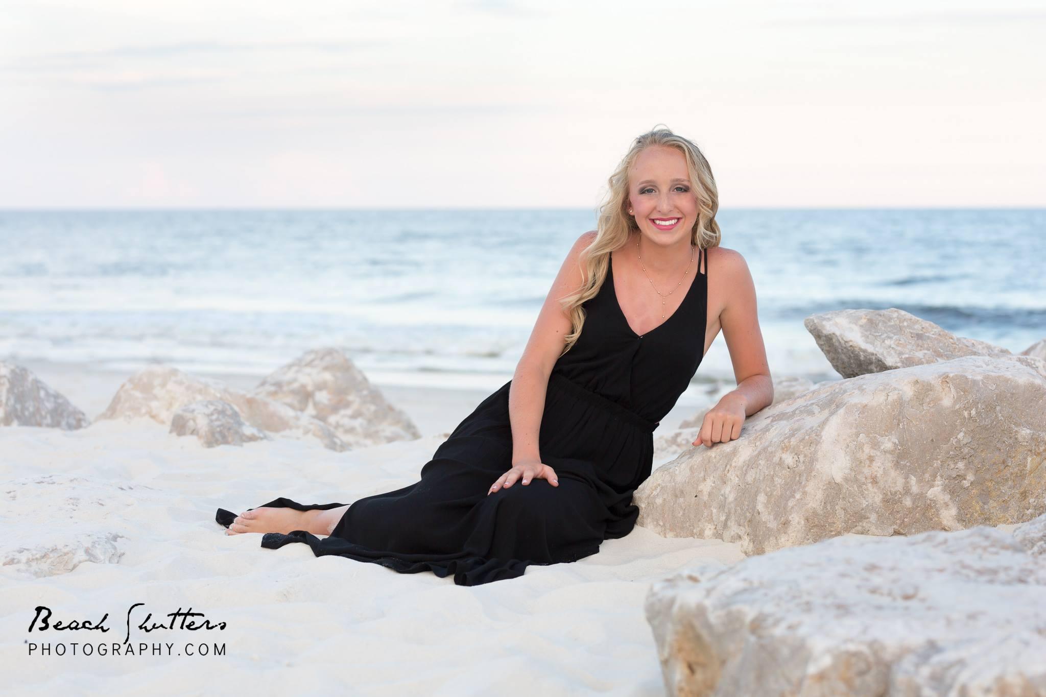 Senior Portraits taken while in Orange Beach Alabama