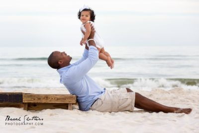 Orange Beach photographer taking father daughter photos