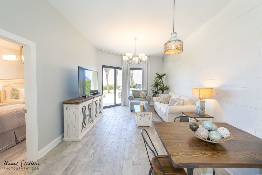 Walls painted white in real estate photos Gulf Shores